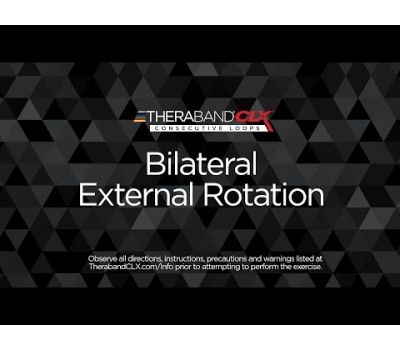 Bilateral External Rotation Ending Position with TheraBand CLX