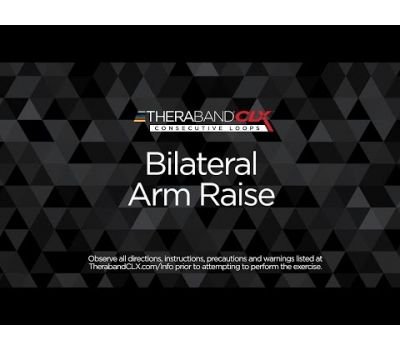 Bilateral Arm Raise Ending Position with TheraBand CLX