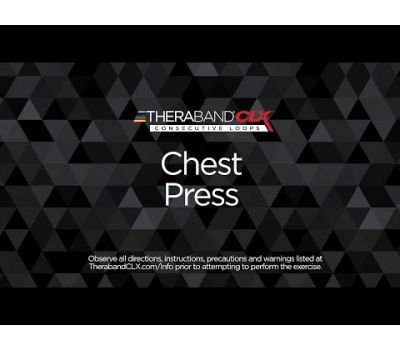 Chest Press Ending Position with TheraBand CLX