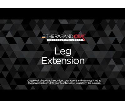Leg Extension Ending Position with TheraBand CLX