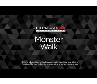 Monster Walk Ending Position with TheraBand CLX