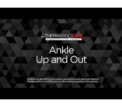 Ankle Up & Out Ending Position with TheraBand CLX