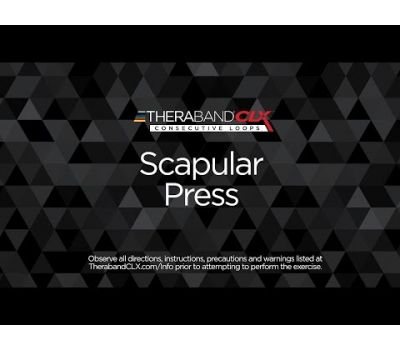 Scapular Press Ending Position with TheraBand CLX