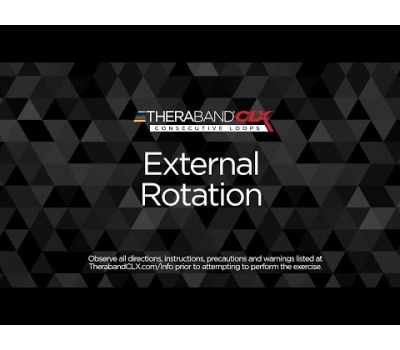 External Rotation Alternative Ending Position with TheraBand CLX