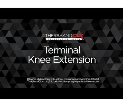 Terminal Knee Extension (TKE) Ending Position with TheraBand CLX