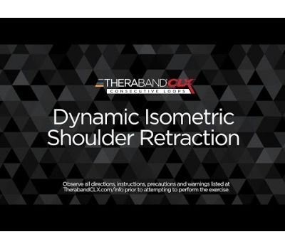 Dynamic Isometric Shoulder Retraction Ending Position with TheraBand CLX