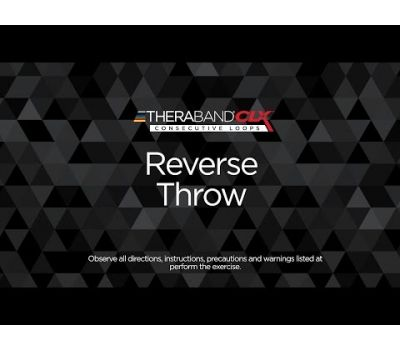 Reverse Throw Ending Position with TheraBand CLX