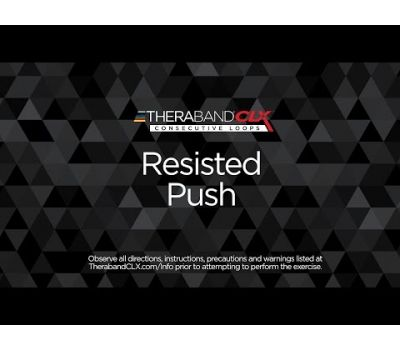 Resisted Push Ending Position with TheraBand CLX