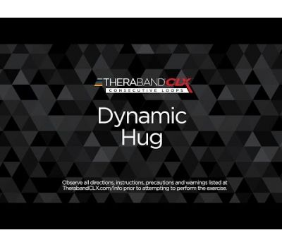 Dynamic Hug Ending Position with TheraBand CLX