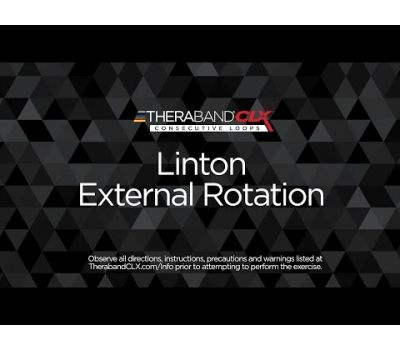 Linton External Rotation Ending Position with TheraBand CLX