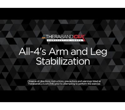 All-4s Arm & Leg Stabilization Ending Position with TheraBand CLX