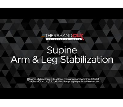 Supine Arm & Leg Stabilization Ending Position with TheraBand CLX
