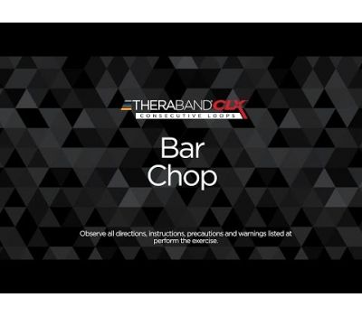 Bar Chop ending position with TheraBand CLX