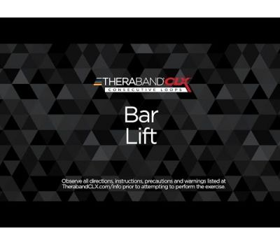 Bar Lift Ending Position with TheraBand CLX