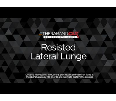 Resisted Lateral Lunge Ending Position with TheraBand CLX